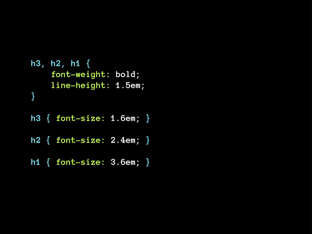 h3, h2, h1 { font-weight: bold; line-height: 1....