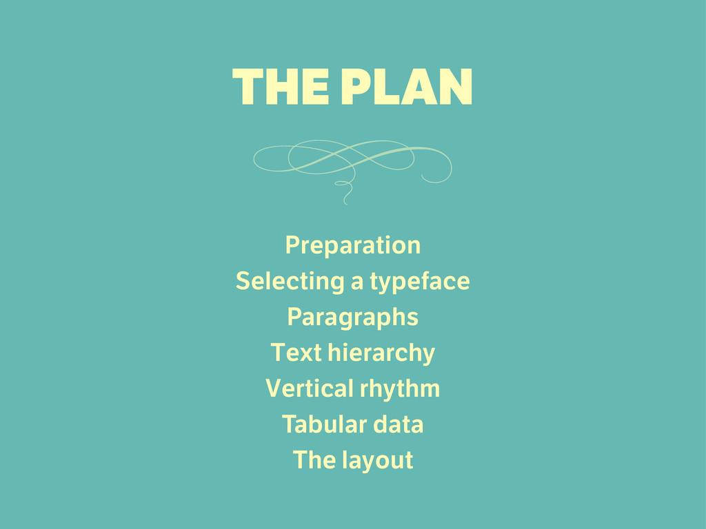 Preparation Selecting a typeface Paragraphs Tex...