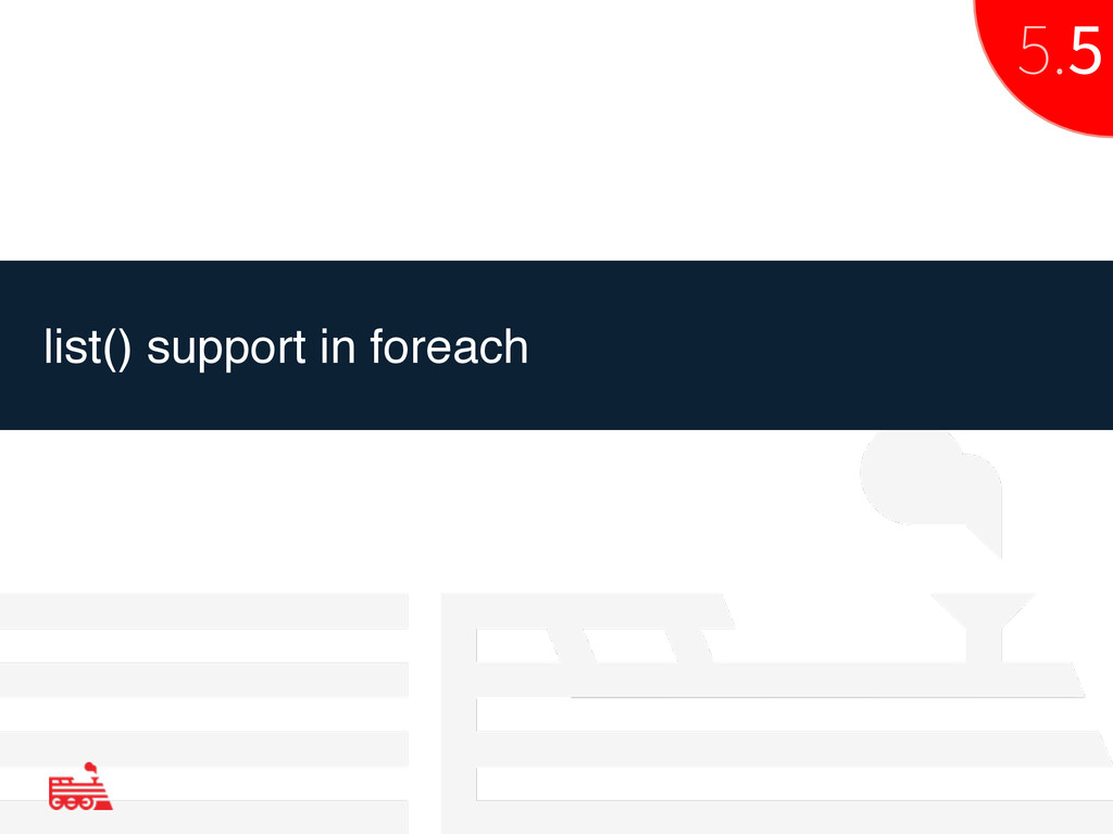 list() support in foreach 5.5