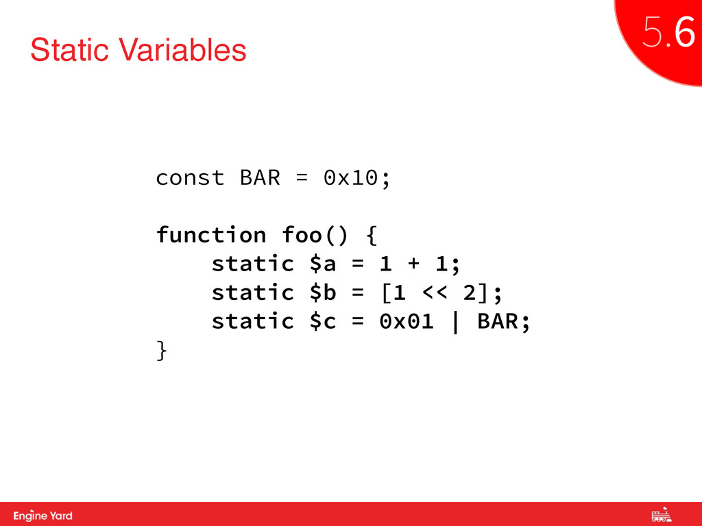 Proprietary and Confidential Static Variables c...