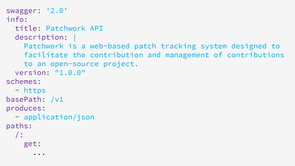 swagger: '2.0' info: title: Patchwork API descr...