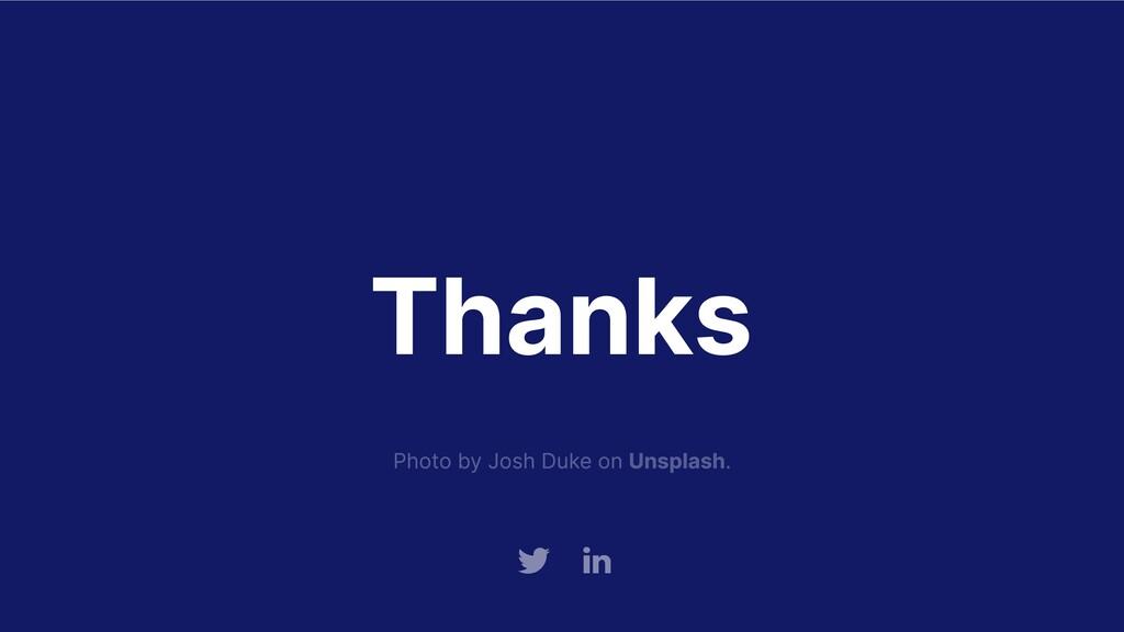 Thanks Tw Link Photo by Josh Duke on Unsplash.