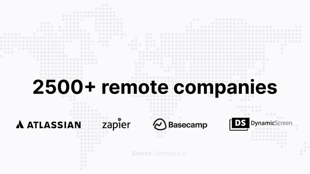 2500 remote companies Source: Remotive.io