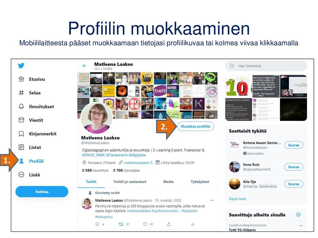 iPadin Twitter-sovellus