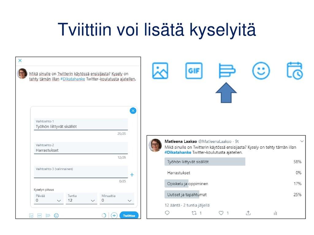 Twitter opetuksessa -esimerkkejä