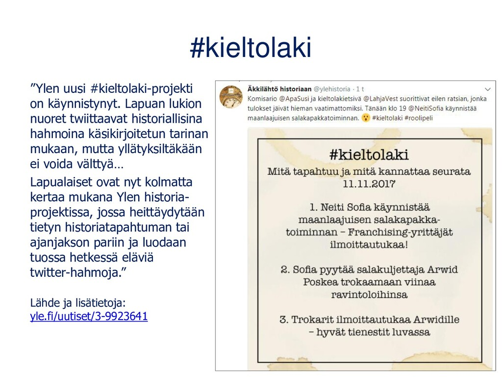 Kirjallisuushistoriaa livertäen • Lukion ÄI6-ku...