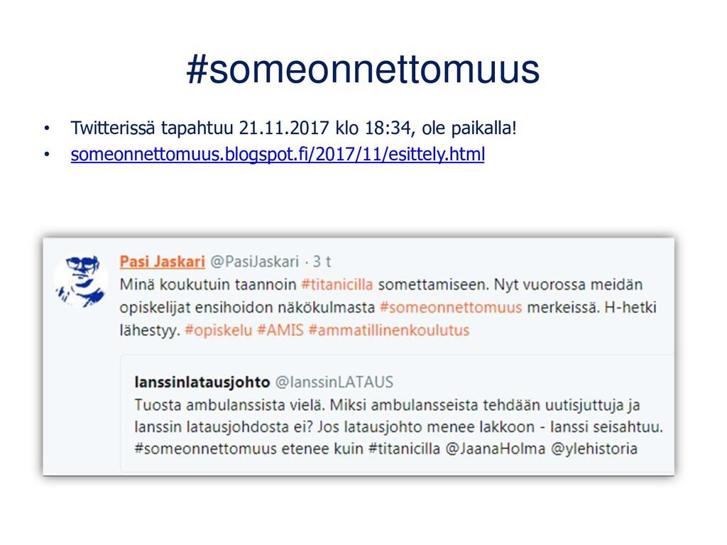 Twitter työssäoppijoiden käytössä 1/2 Maarit Ja...
