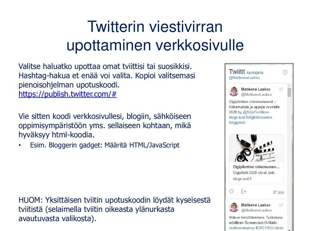 tweepsmap.com: viikoittainen raportti Tilaan vi...