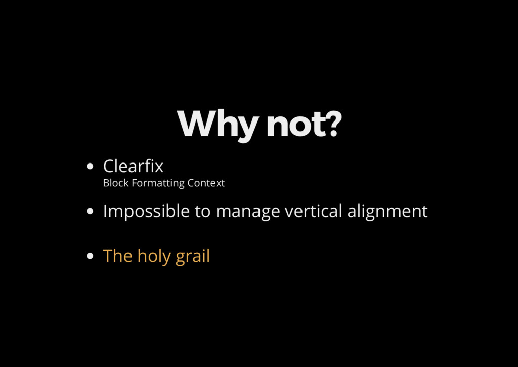 Why not? Clear x Block Formatting Context Impos...