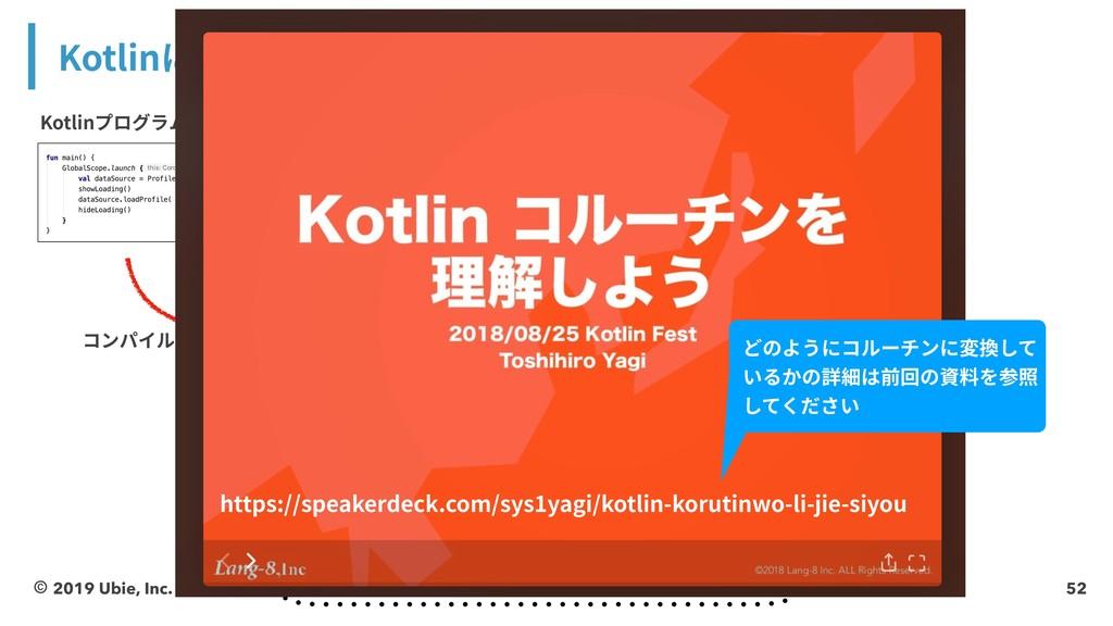 52 Kotlinにおけるコルーチンの仕組み © 2019 Ubie, Inc. ঢ়ଶ ঢ়ଶ...