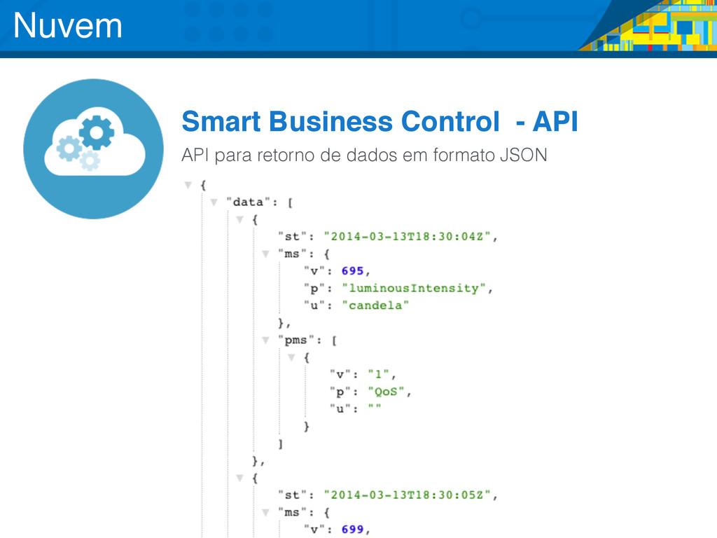 Smart Business Control - API API para retorno d...