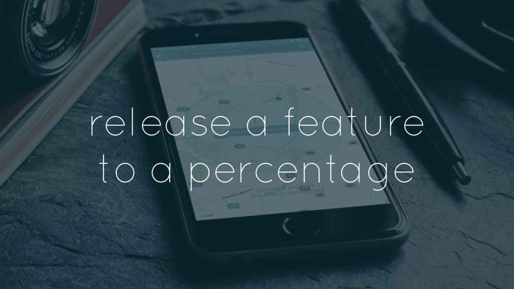 release a feature to a percentage