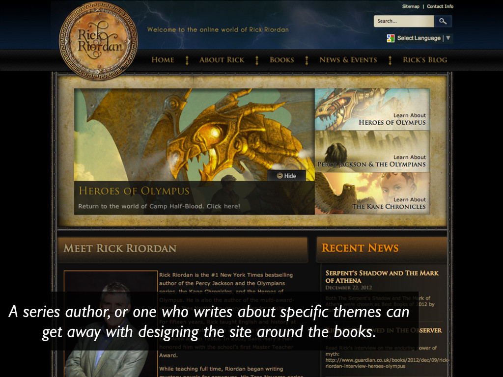 A series author, or one who writes about specifi...