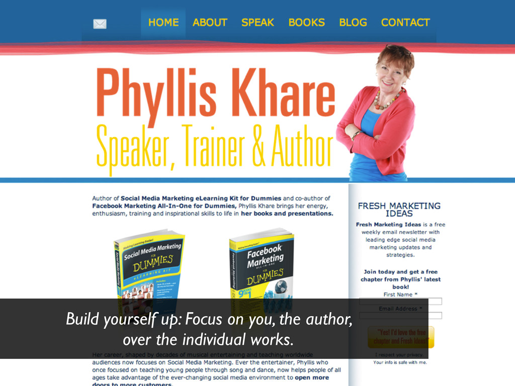Build yourself up: Focus on you, the author, ov...