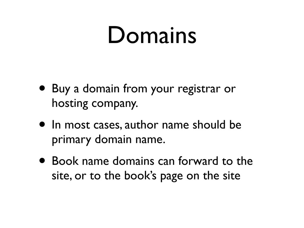 Domains • Buy a domain from your registrar or h...