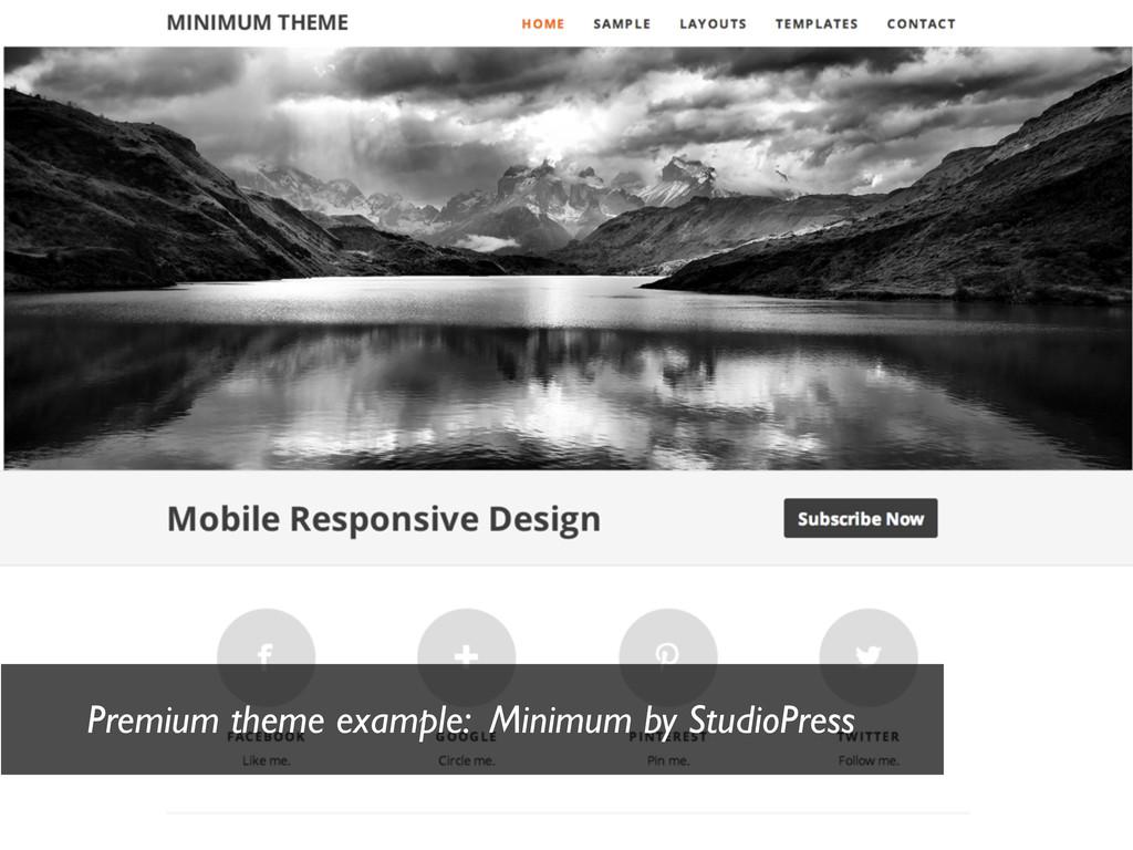 Premium theme example: Minimum by StudioPress