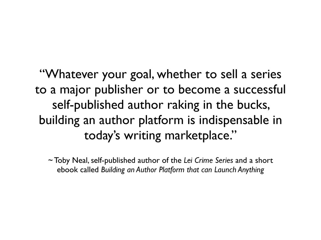 """""""Whatever your goal, whether to sell a series t..."""