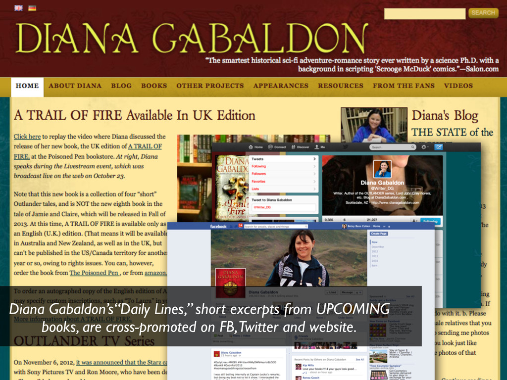 """Diana Gabaldon's""""Daily Lines,"""" short excerpts f..."""