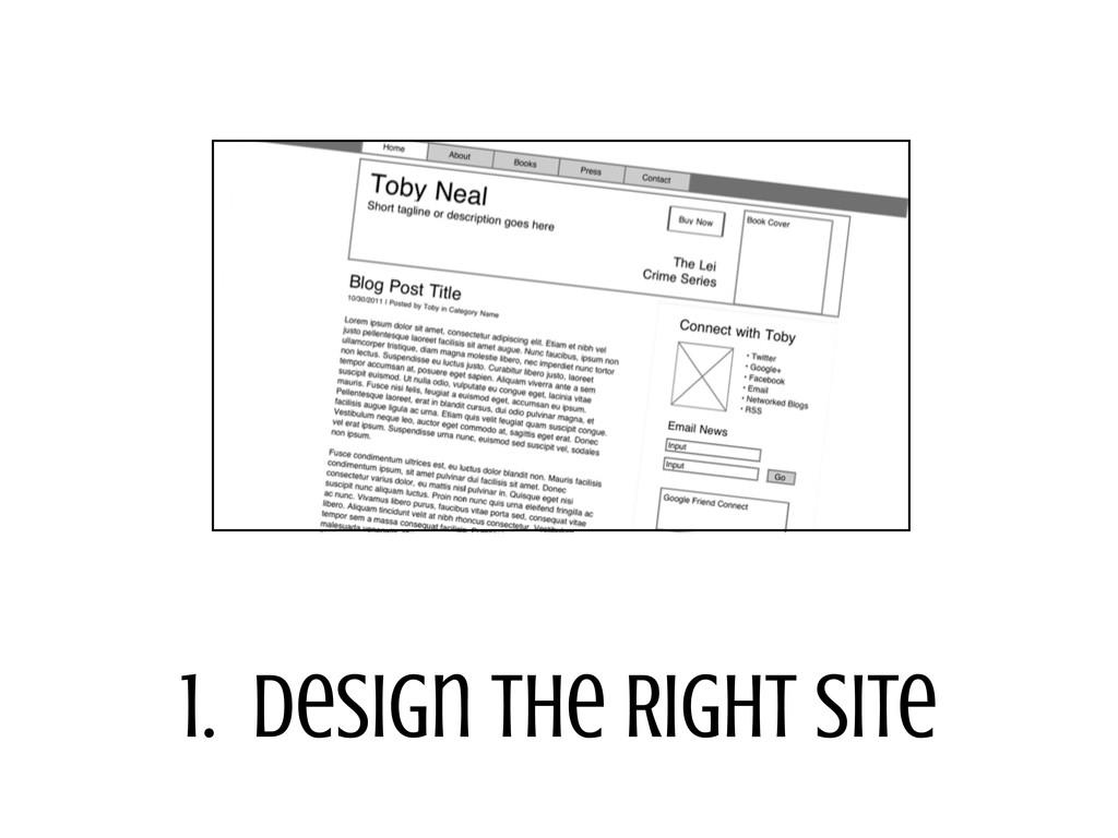 1. Design the Right Site