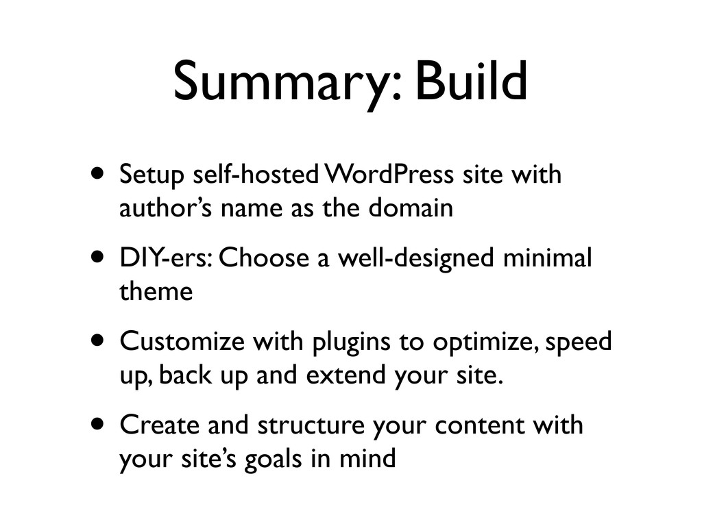 Summary: Build • Setup self-hosted WordPress si...