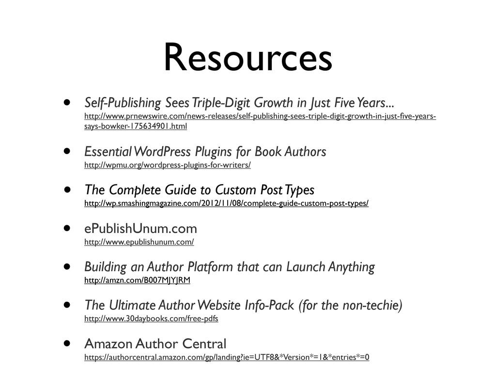 Resources • Self-Publishing Sees Triple-Digit G...