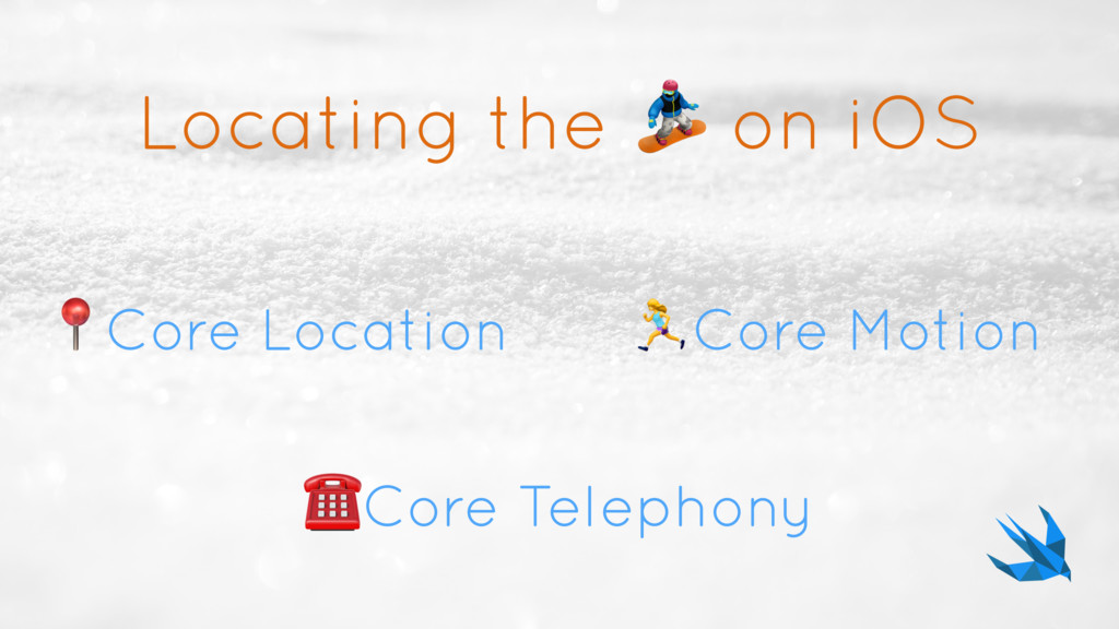 Locating the  on iOS Core Location ☎Core Teleph...