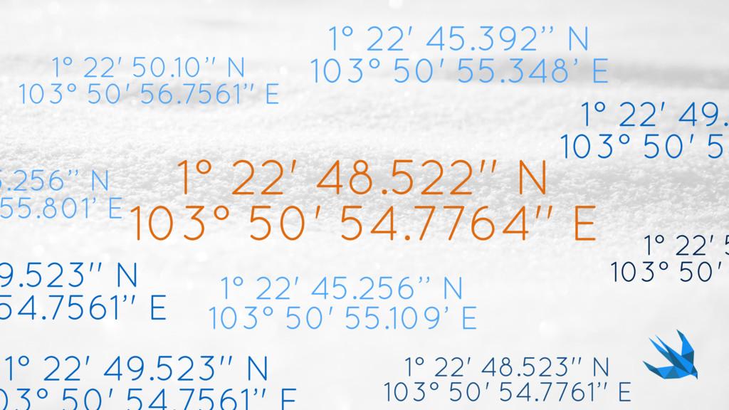1° 22' 48.522'' N 103° 50' 54.7764'' E 1° 22' 4...