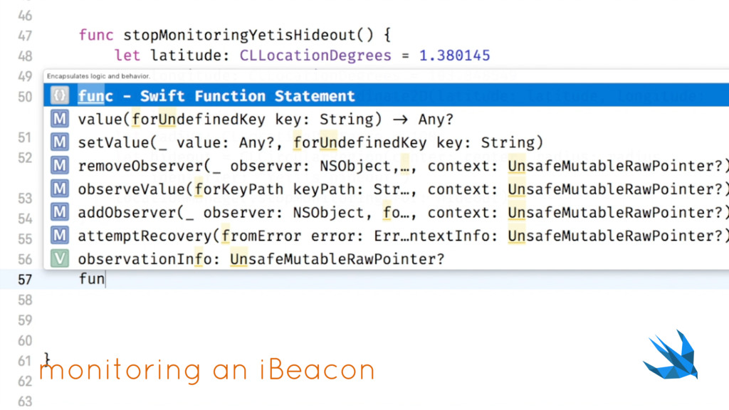 monitoring an iBeacon