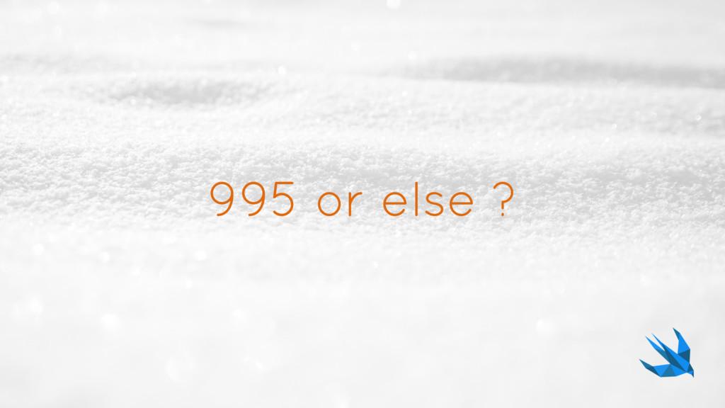 995 or else ?