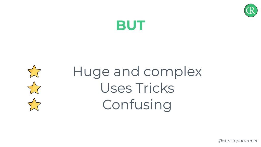 @christophrumpel Huge and complex Uses Tricks C...