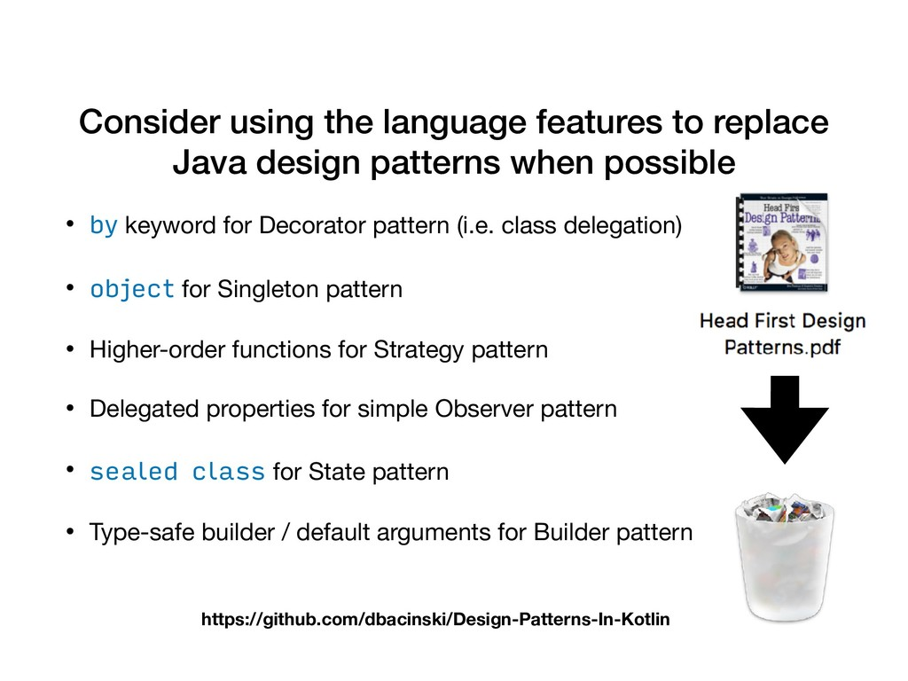 Consider using the language features to replace...