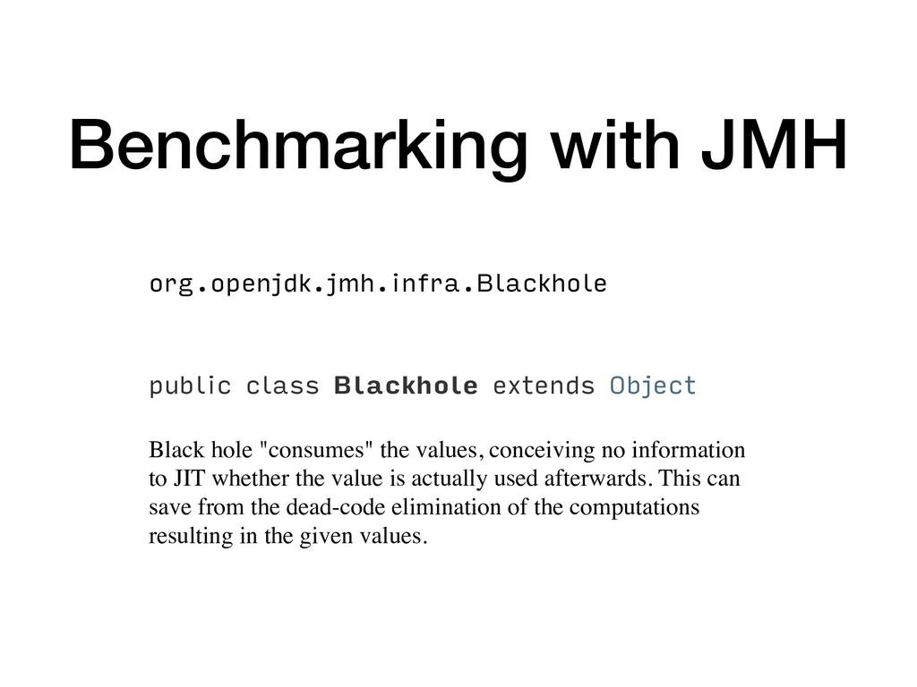 Benchmarking with JMH org.openjdk.jmh.infra.Bla...