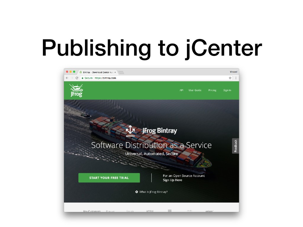 Publishing to jCenter