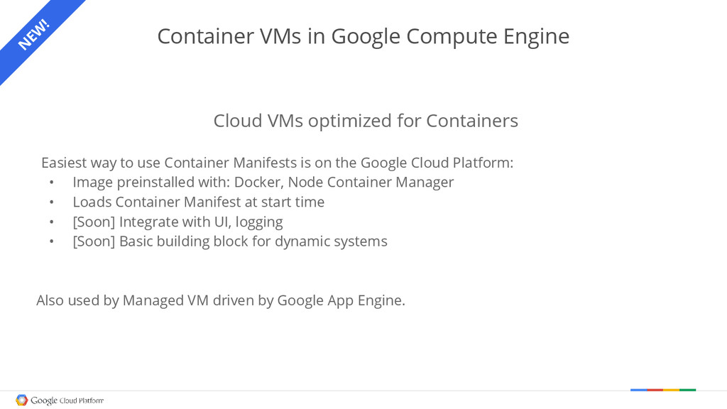 Container VMs in Google Compute Engine Cloud VM...
