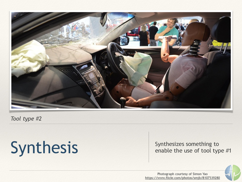 Tool type #2 Synthesis Synthesizes something to...