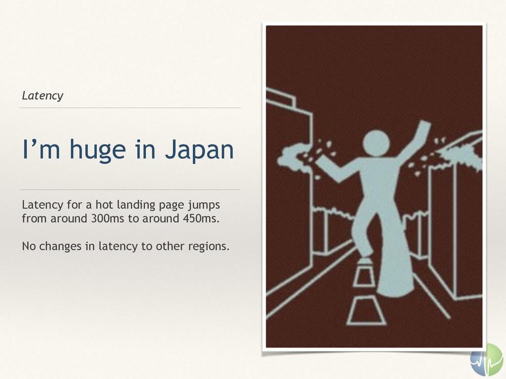 Latency I'm huge in Japan Latency for a hot lan...