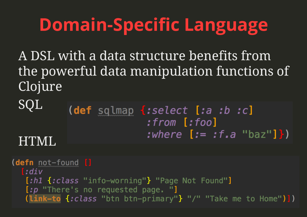Domain-Specific Language A DSL with a data struc...