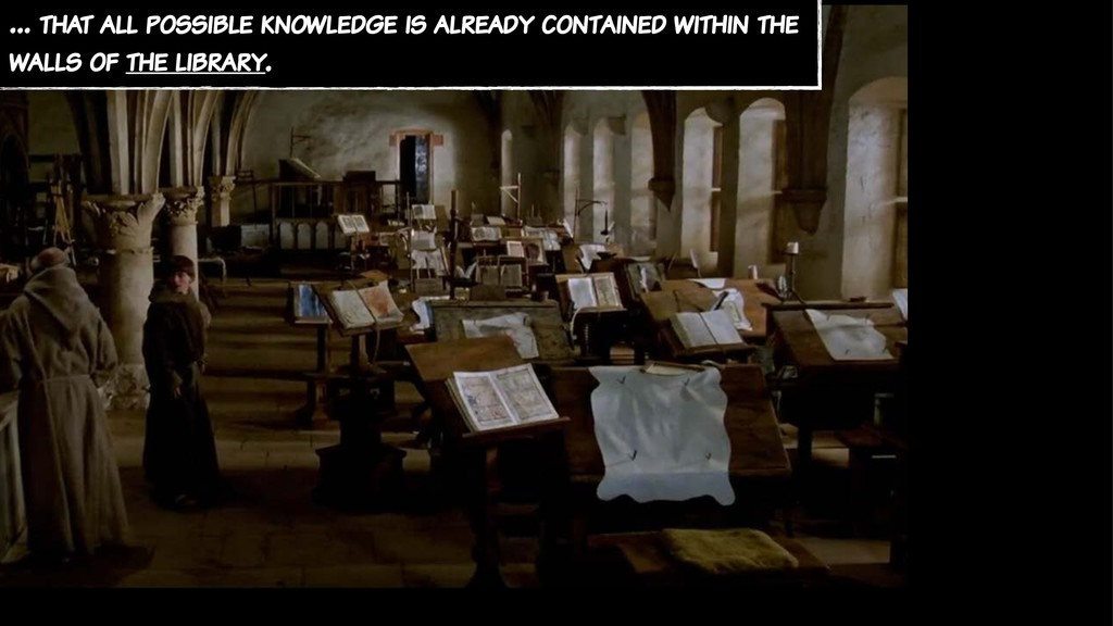 … that all possible knowledge is already contai...
