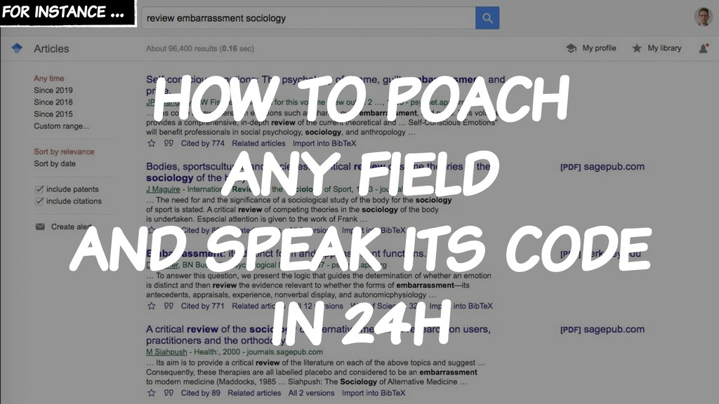 how to poach any field and speak its code in 24...