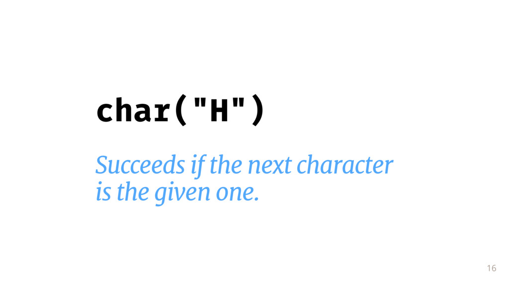 """16 char(""""H"""") Succeeds if the next character  is..."""