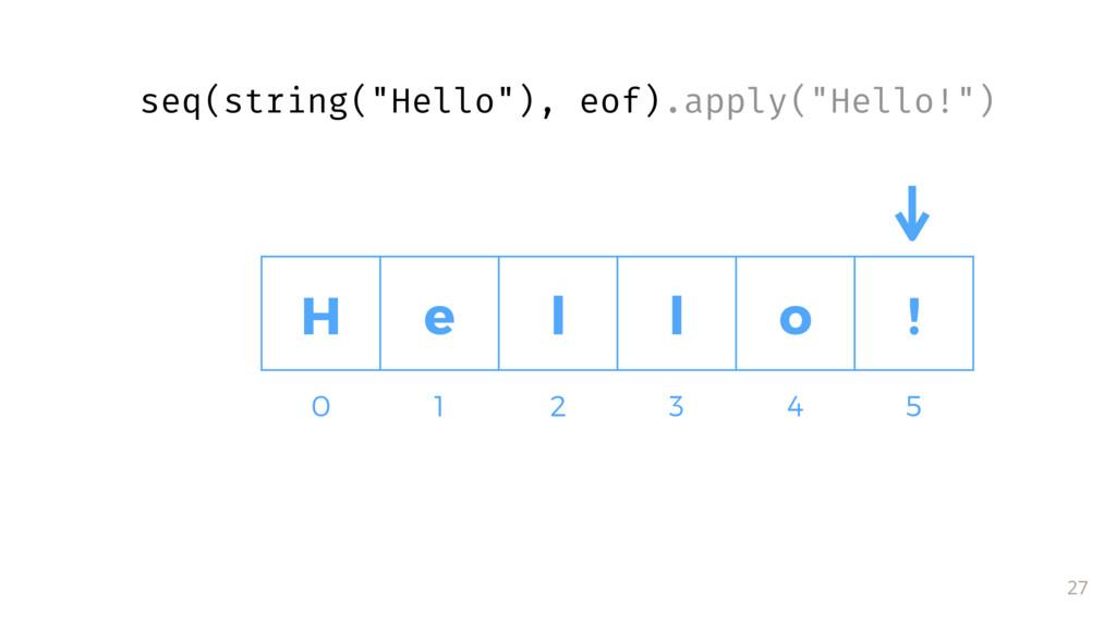 """27 0 1 2 3 4 5 H e l l o ! seq(string(""""Hello""""),..."""