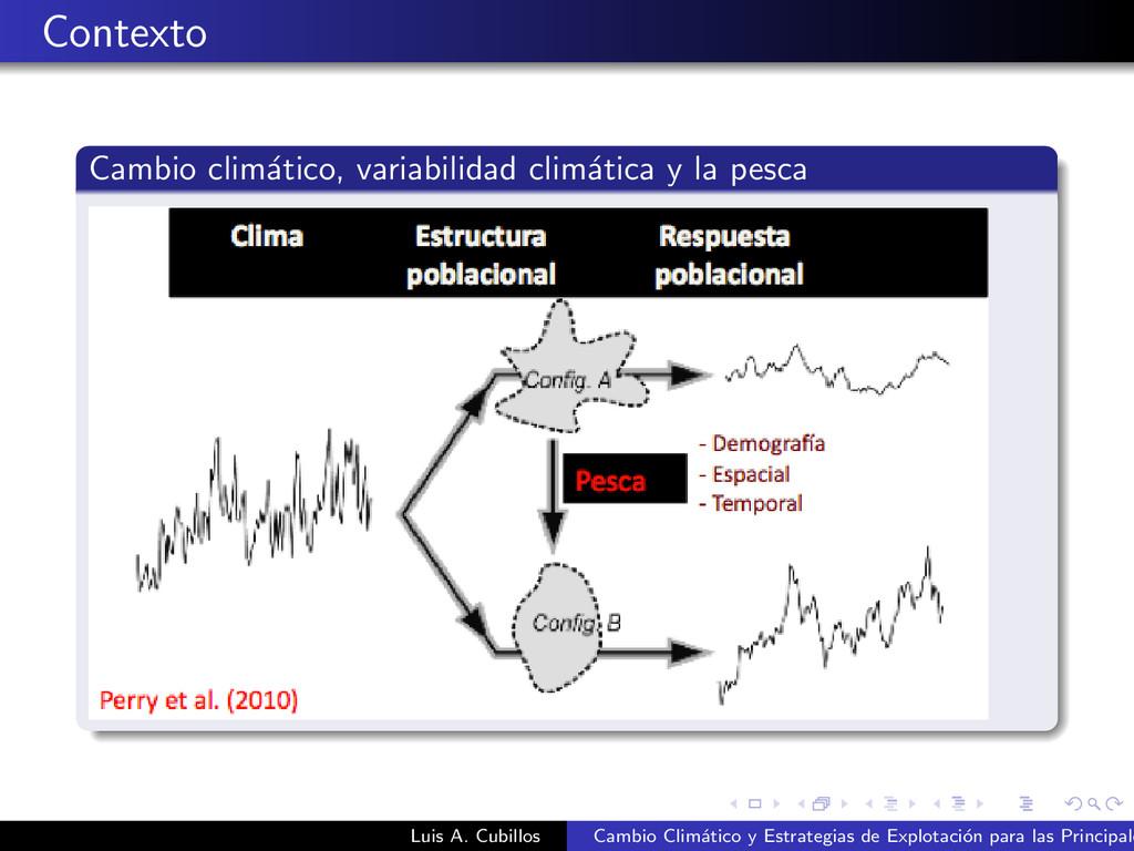 Contexto Cambio clim´ atico, variabilidad clim´...