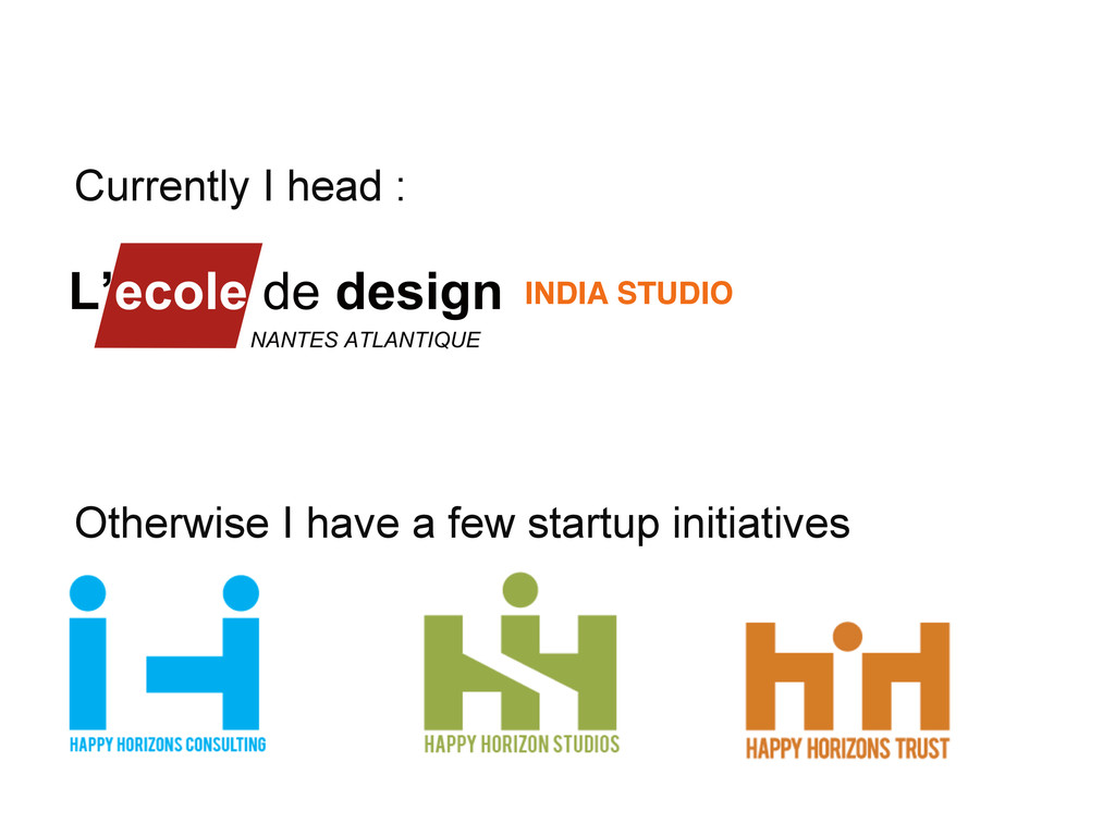 Currently I head : INDIA STUDIO! Otherwise I ha...