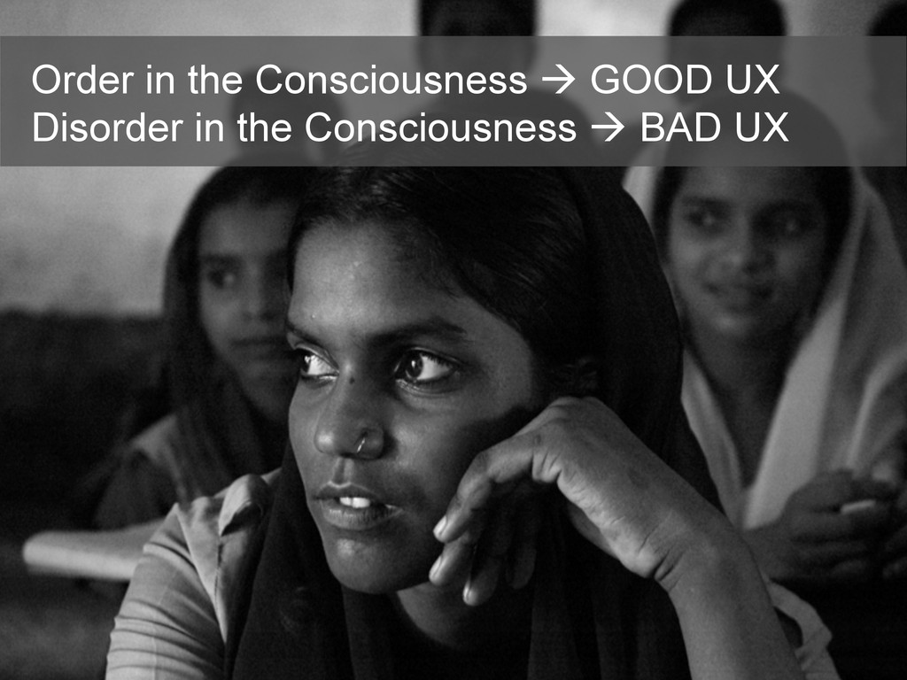 Order in the Consciousness à GOOD UX Disorder ...