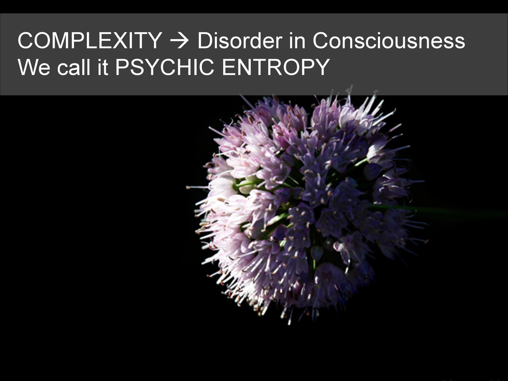 COMPLEXITY à Disorder in Consciousness We call...