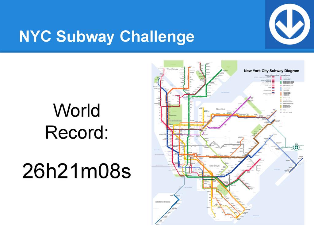 NYC Subway Challenge World Record: 26h21m08s