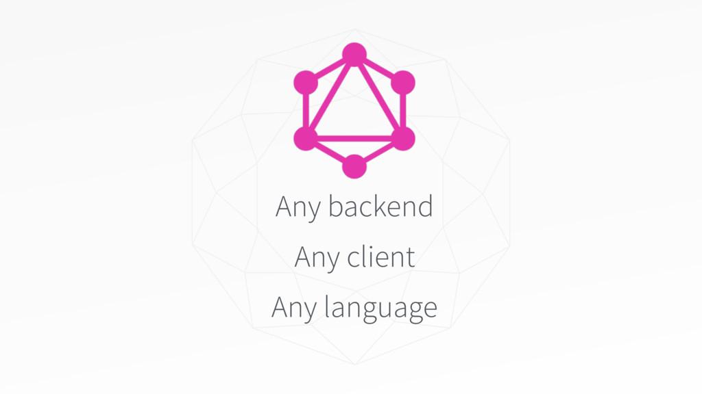 Any backend Any client Any language