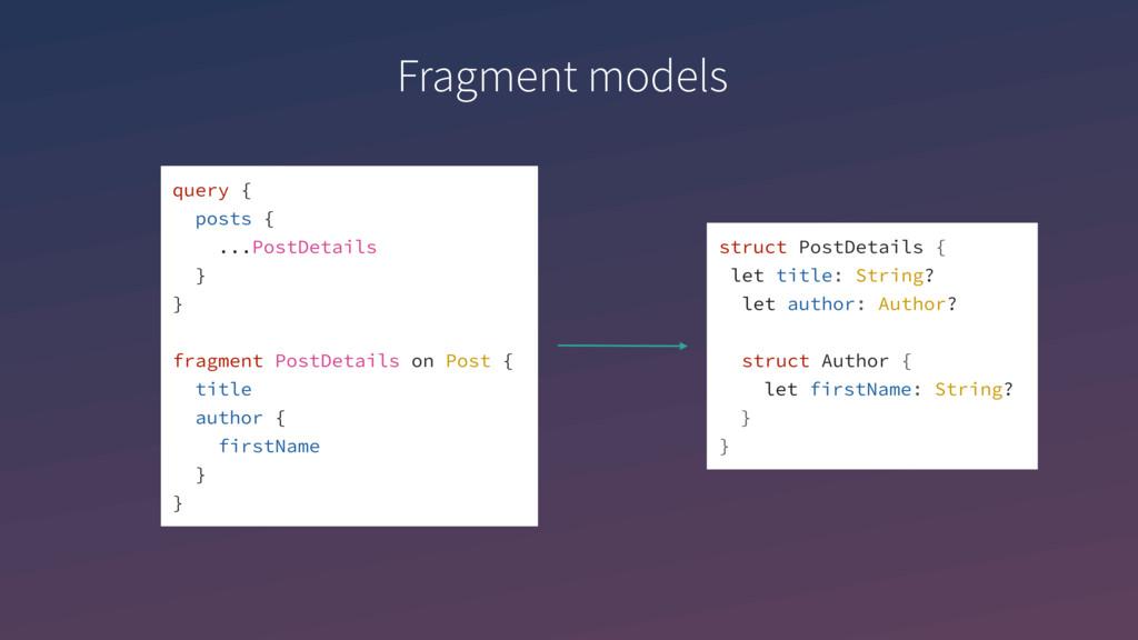 query { posts { ...PostDetails } } fragment Pos...