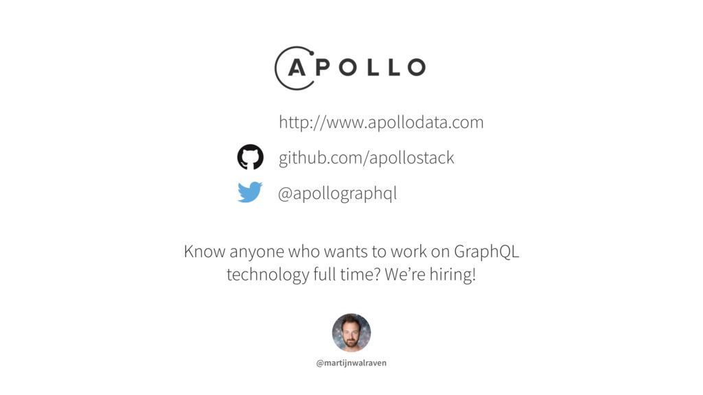 Know anyone who wants to work on GraphQL techno...