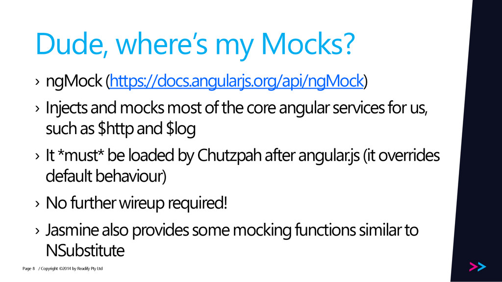 Page Dude, where's my Mocks? › ngMock(https://d...